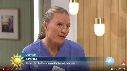 Tv4 Nyhetsmorgon lyfter myom